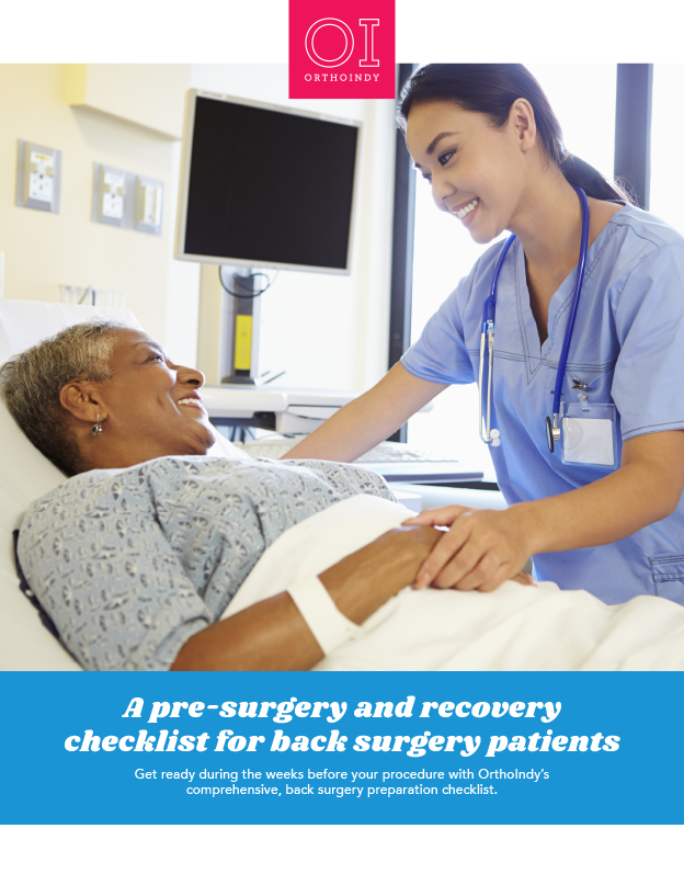 A pre-surgery and recovery checklist for back surgery patients